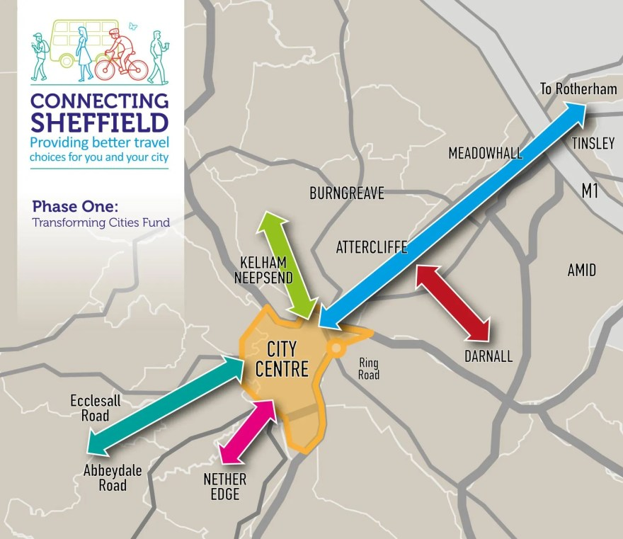 Connecting Sheffield Phase One Map