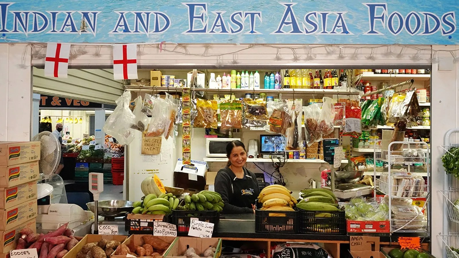 East Asian Food Stall in The Moor Market