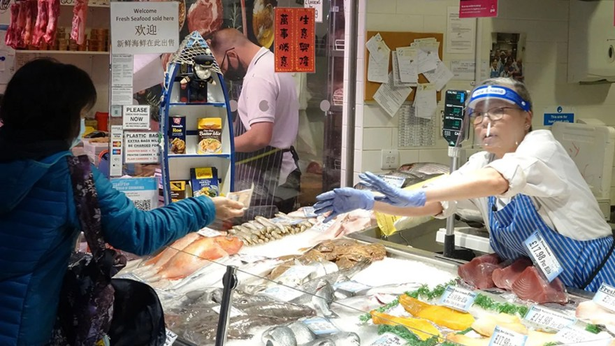 Tissingtons Fishmongers in The Moor Market