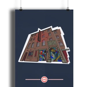 The Leadmill Portrait Art Print, Art by James exclusively for The Sheffield Guide