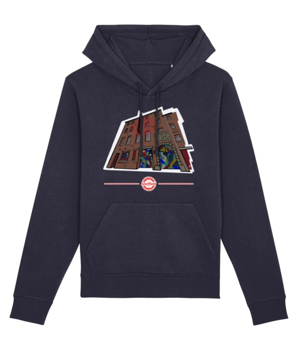 The Leadmill Sheffield Hoodie (Art by James), French Navy