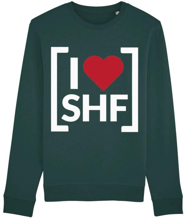 I LOVE SHEFFIELD [SHF] Sweatshirt, Glazed Green