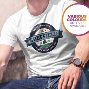 Visit Sheffield The Outdoor City T-Shirt, White
