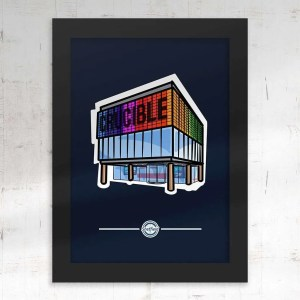 Crucible Theatre Sheffield Framed Print — Art by James