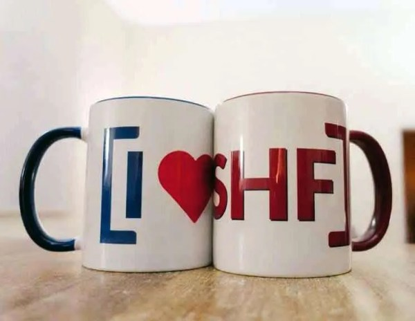 I LOVE SHEFFIELD Two-Tone Mugs [SHF], Cobalt Blue/Bordeaux Red