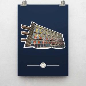 Park Hill Sheffield Poster Print — Art by James