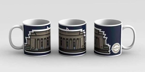 Sheffield City Hall Mug — Art by James