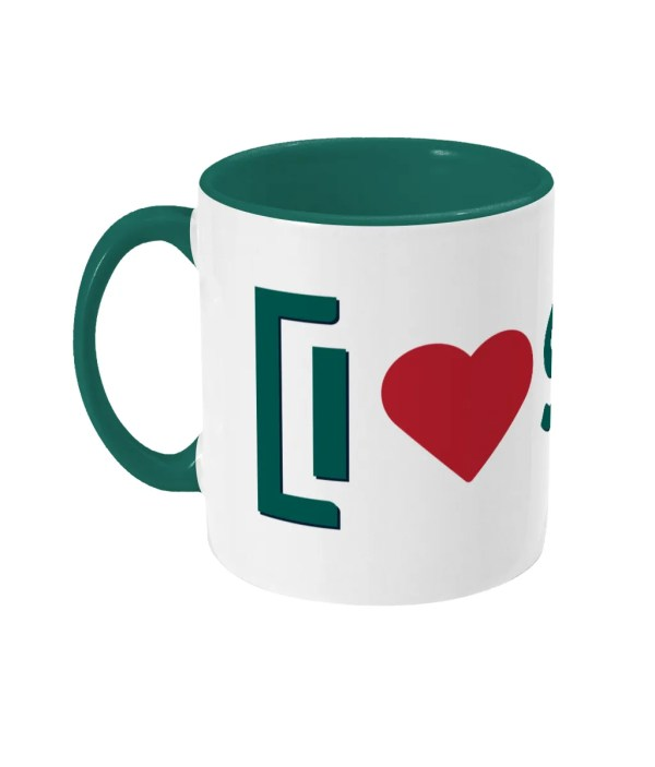I LOVE SHEFFIELD Two-Tone Mug [SHF], Green