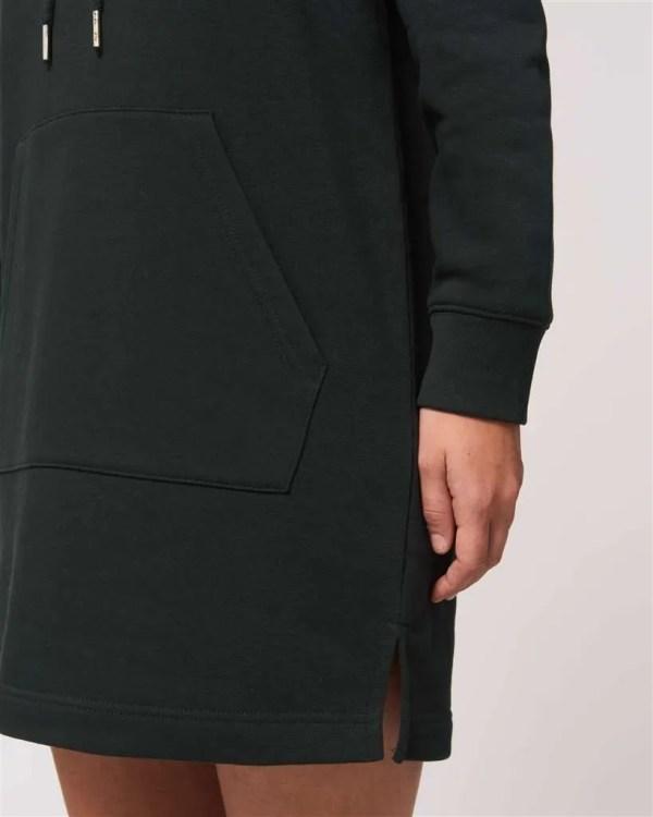 [SHF] Motif Embroidered Hoodie Dress, Black