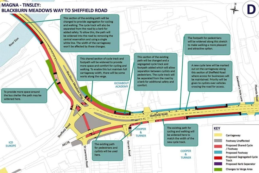 Connecting Sheffield Plans for the junction of Sheffield Road and Blackburn Meadows Way.