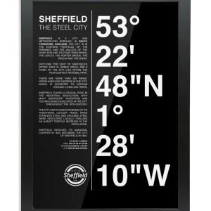 Sheffield Coordinates Framed Art Print