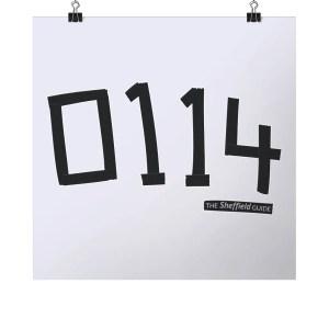 0114 Square Sheffield Art Print