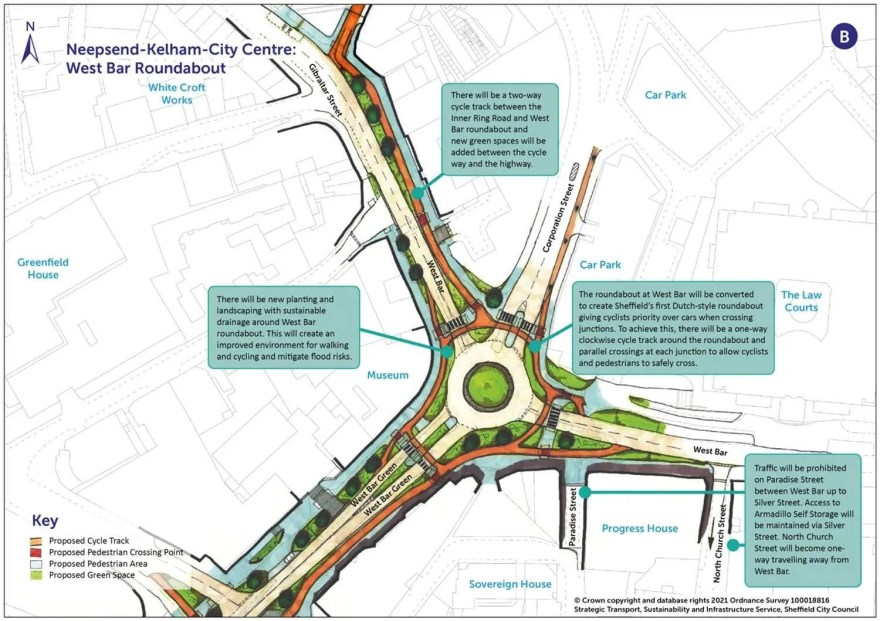 Proposals for 'Dutch-style' roundabount at West Bar