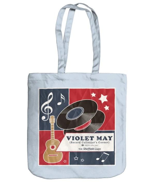 Violet May Sheffield Organic Tote Bag, Pastel Blue
