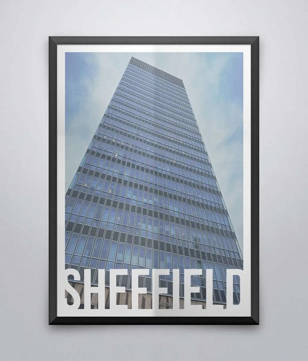 The Arts Tower Sheffield Destination Poster Framed Print