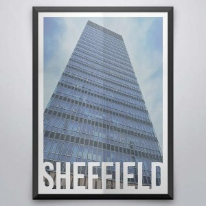 The Arts Tower Sheffield Destination Poster Framed Print
