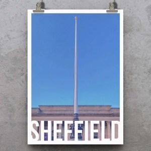 Barkers Pool (Sheffield City Hall) Sheffield Destination Poster Print