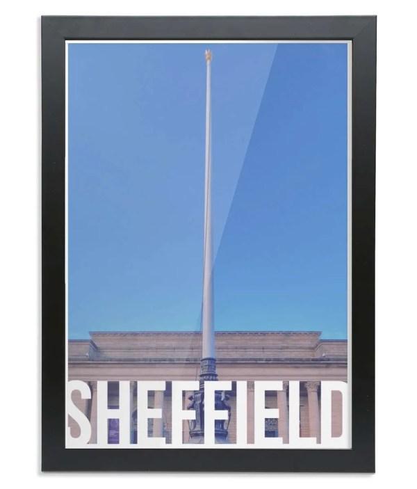 Barkers Pool (Sheffield City Hall) Sheffield Destination Poster Framed Print
