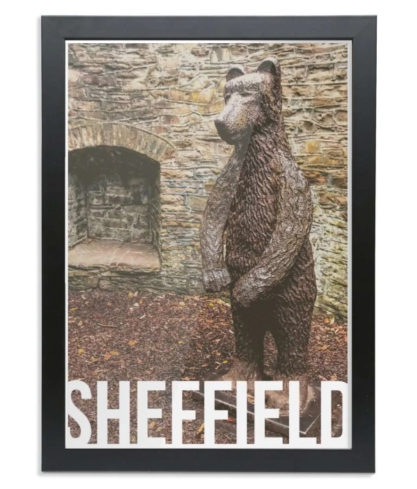 The Bear Pit (Botanical Gardens) Sheffield Destination Poster Framed Print