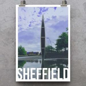 Cutting Edge Sheffield Art Poster Print
