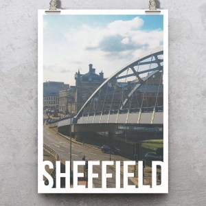 Park Square Sheffield Art Poster Print