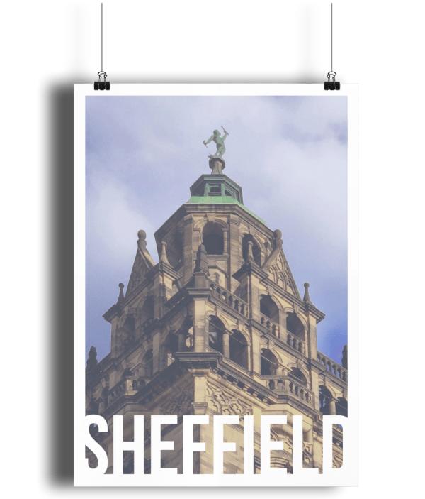Vulcan Sheffield Destination Poster Print