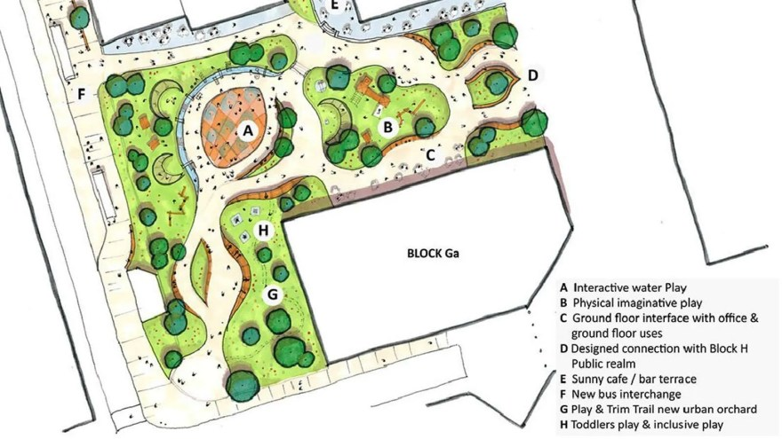 Plans for Pound's Park in Sheffield City Centre