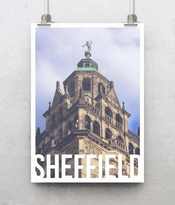 Vulcan Sheffield Art Poster Print