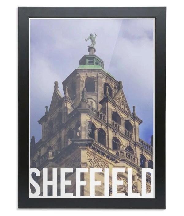 Vulcan (Sheffield Town Hall) Sheffield Destination Poster Framed Print