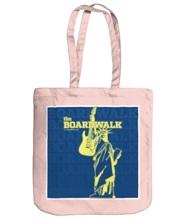 The Boardwalk Sheffield Organic Tote Bag, Pastel Pink