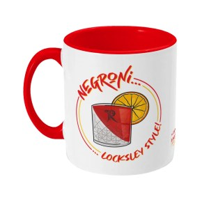 Negroni… Locksley Style! Two Tone Mug | Locksley Distilling X Sheffield Guide | Exclusive Art By James, Red