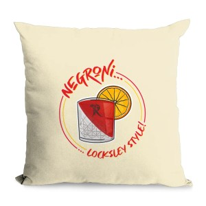 Negroni… Locksley Style! Natural Cushion   Locksley Distilling X Sheffield Guide   Exclusive Art By James