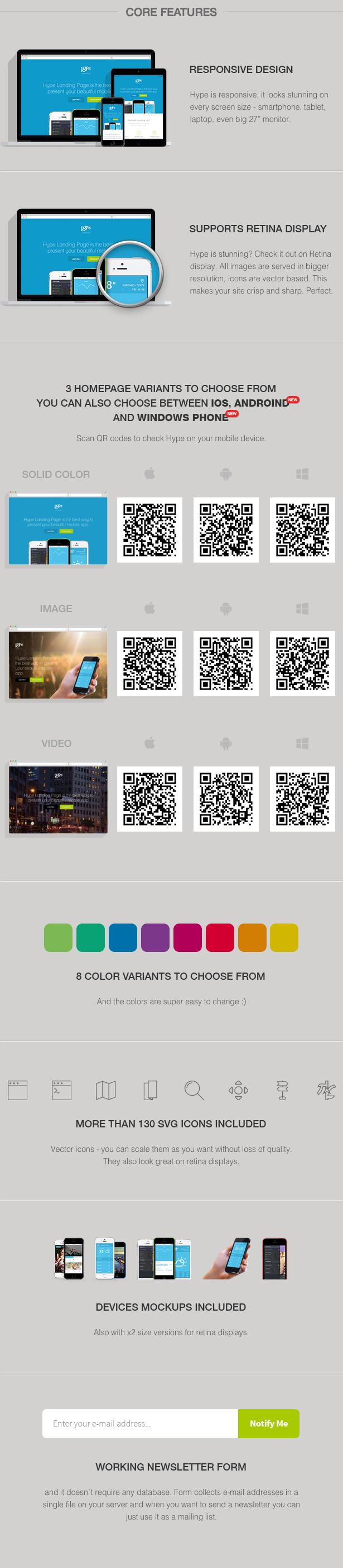 Hype - App Landing Page 5