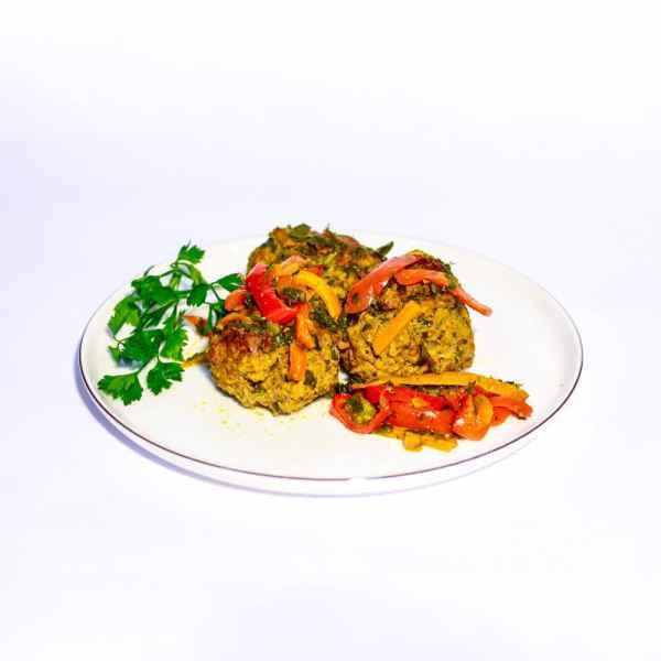 קציצות בקר בתנור ברוטב ירקות שורש