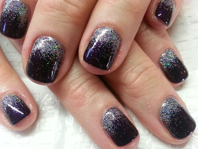 Cool Gelish And Glitter Nail Art Designs 2017