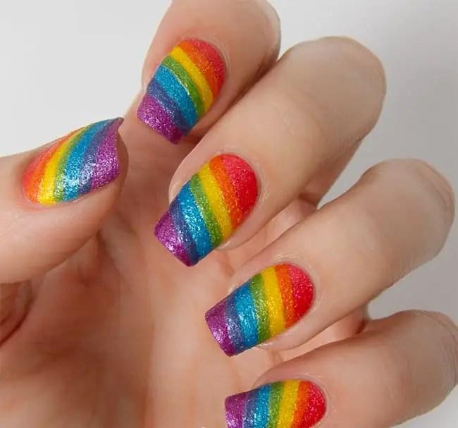 Rainbow Summer Nails Art Designs For Women
