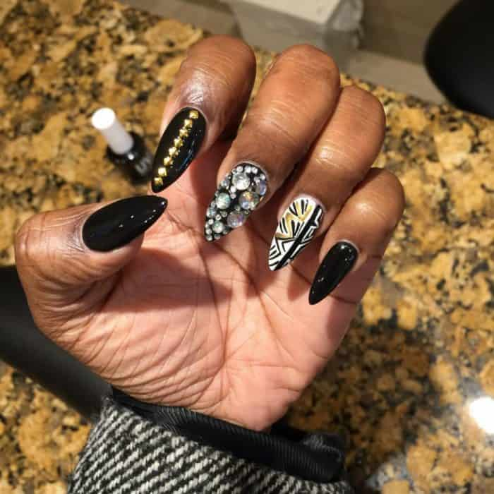 22 Hottest Black Nail Designs Pictures 2019 SheIdeas