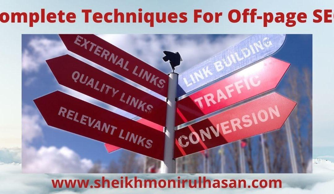 21 complete off-page SEO techniques