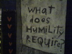 What does humility require?