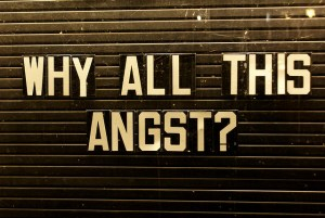 Why all this angst? sign