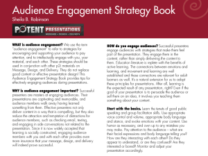 Audience engagement strategy book page