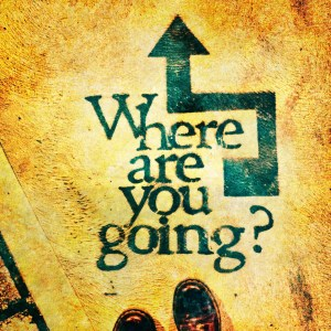 "Image of arrow with question ""Where are you going?"""