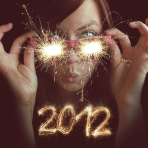 2012 new year sparkly eyeglasses
