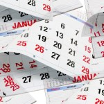 illustration of calendar pages all mixed up