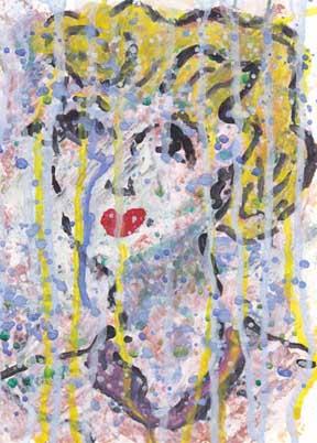 Mixed media on paper. 5 x 7 © Sheila Delgado 2013
