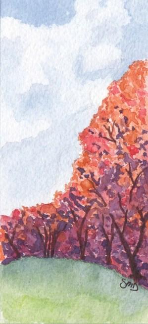 2.5 x 4.5 Watercolor on Arches 140 lb. cold pressed paper. © Sheila Delgado 2013