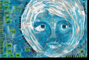 Acrylic, Gouache on 5 x 7 canvas panel