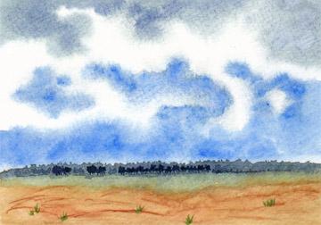 Watercolor on 140 lb. cold press paper. © 2013 Sheila Delgado