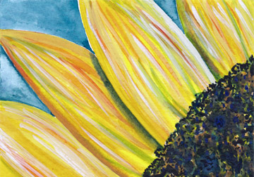 Sunny. Watercolor on  6 x 4 cold press paper. © Sheila Delgado 2013