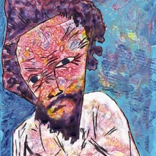 Loneliness. Mixed media on Yupo, 7 x 8. © 2014 Sheila Delgado